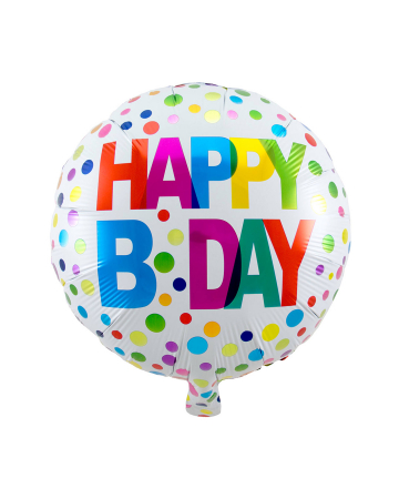 Happy B-Day Folienballon 45 cm