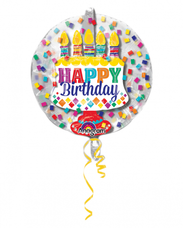 Happy Birthday Balloon In Balloon 60cm