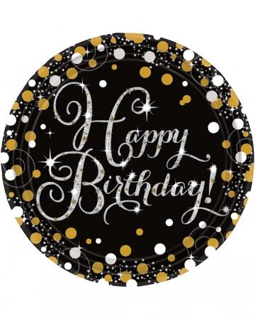 Happy Birthday Paper Plate Glamor 8 St.