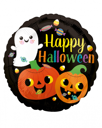 Happy Ghost & Pumpkin Foil Balloon
