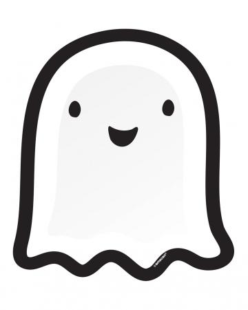 8 Gespenster Halloween Pappteller