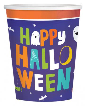 8 Happy Halloween Paper Cups