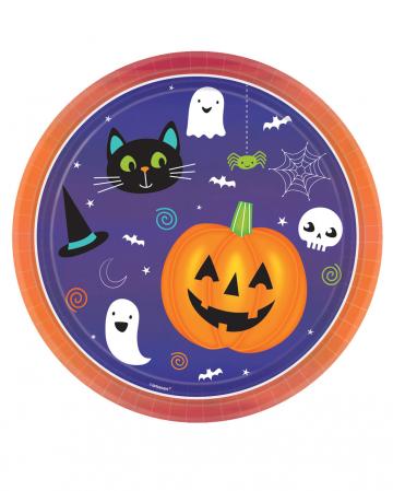 8 Happy Halloween Einwegteller