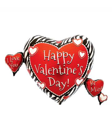 Valentinstag Folienballon mit Herzen