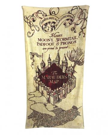 Karte des Rumtreibers Handtuch - Harry Potter
