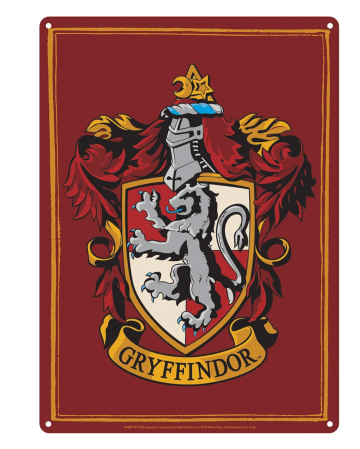 Harry Potter Tin Sign Gryffindor Crest DIN A5