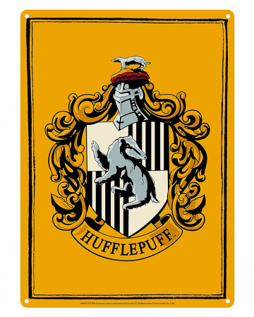 Harry Potter Tin Sign Hufflepuff Crest DIN A5