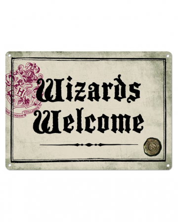 Wizards Welcome Harry Potter Blechschild DIN A5