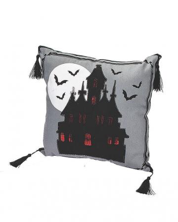 Haunted Castle Halloween Zierkissen