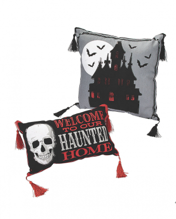 Haunted Home Halloween Zierkissen