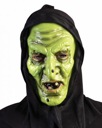 Witch Mask With Warts & Hood