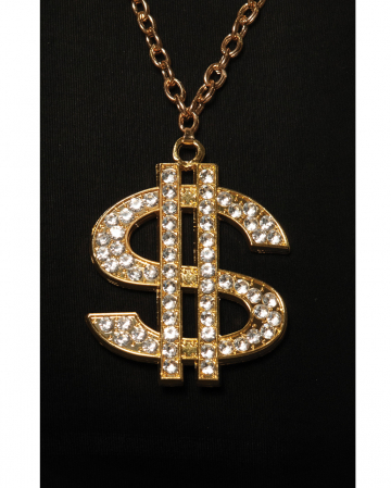 Hip Hop Gold Chain With Dollar Sign