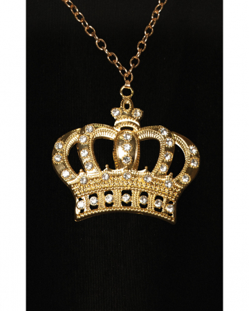 Hip Hop Gold Chain With Crown