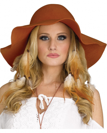 Hippie Costume Hat Brown