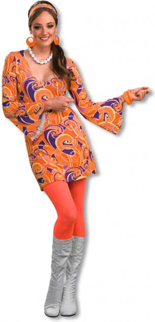 Hippie Minikleid Tangerine