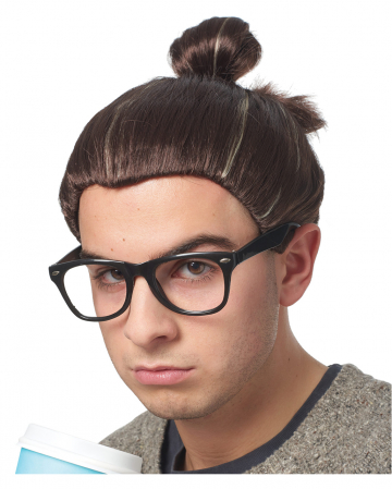 Hipster Top-Knot Perücke