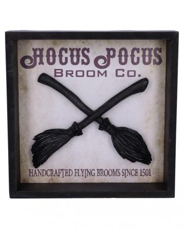 Hocus Pocus Hexenbesen im Bilderrahmen 20cm