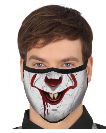 Horror-Clown 3-lagige Community Maske