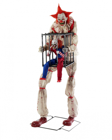 Killer Clown mit Clown in Käfig Animatronic