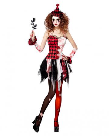 Horror Harlequin Ladies Costume