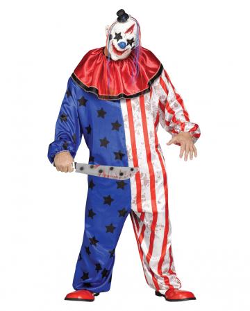 Amerika Clown-Kostüm mit Maske PLUS SIZE