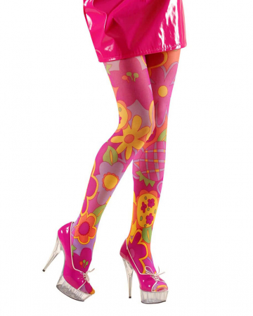Colorful Flower Power Hippie Tights