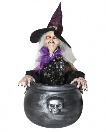 Jumping Witch In A Witch's Cauldron