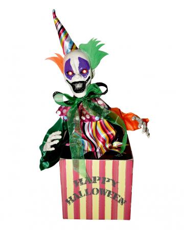 Hüpfender Clown in Popcorn Box