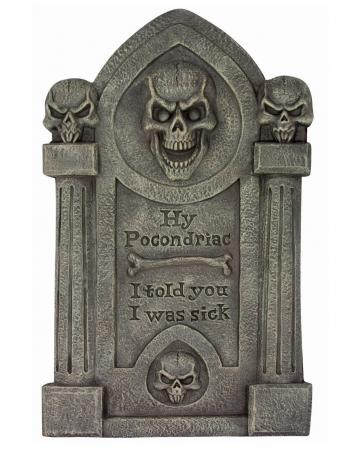 Grabstein mit Totenschädel & Knochen 70cm
