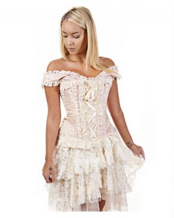 burleska jasmine corset  overbust corset with wide straps
