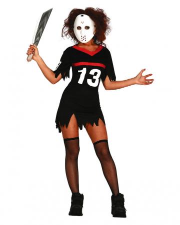 Hockey Frauenkostüm mit Maske