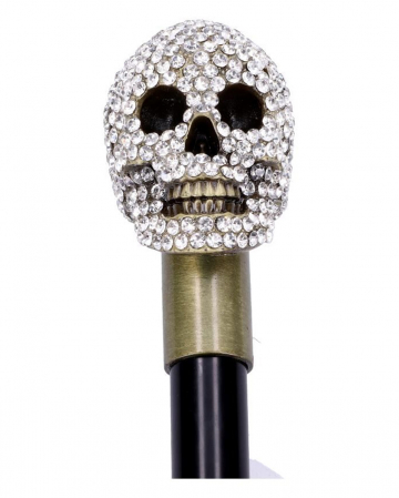 Bejeweled Skull Walking Stick
