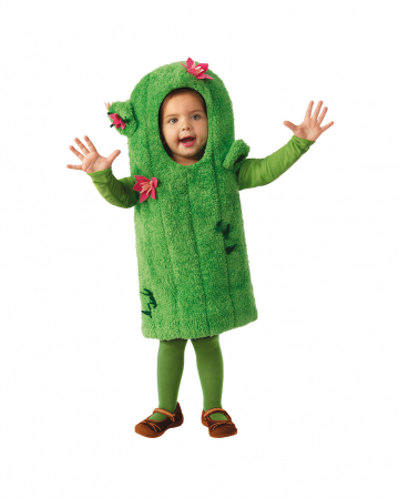 Green Cactus Costume With Flowers For Children