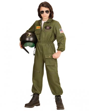 Kampfjet Pilot Kostüm für Kinder