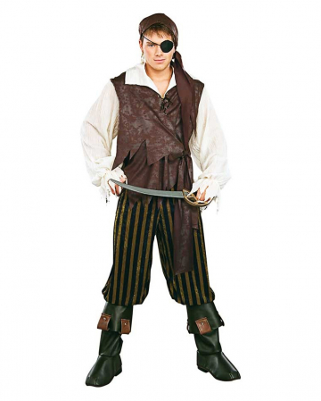 Caribbean Pirate Costume With Boot Tops