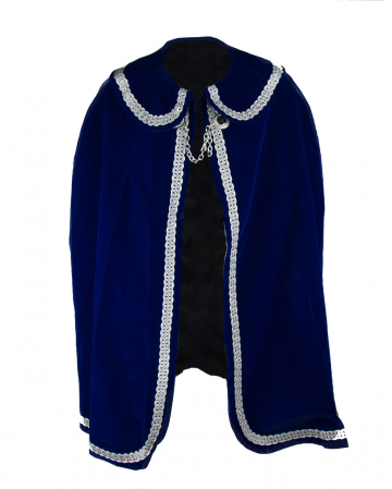 Carnival Prince Coat In Blue-Silver