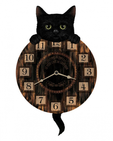 Cats Wall Clock With Pendulum