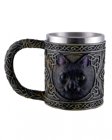 Celtic Jug With Black Cat Motif