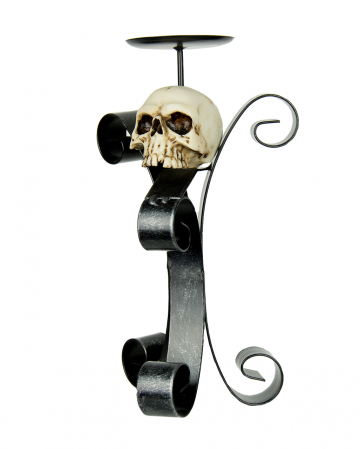 Candle Holder With Skull