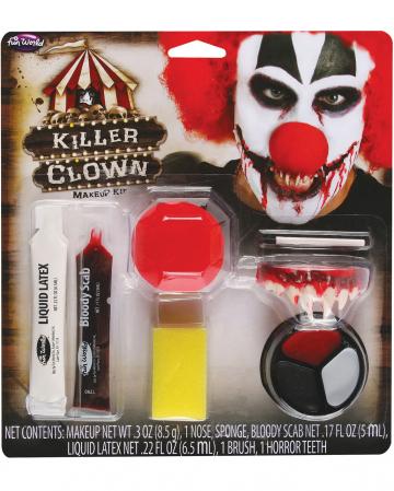 Killer Clown Schminkset 9-tlg.
