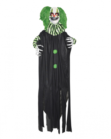 Killer Clown With Green Hair & LED Eyes