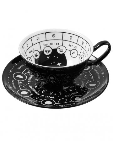 Cosmic Teetasse mit Unterteller KILLSTAR