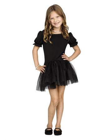Schwarzes Petticoat-Kleid für Mädchen