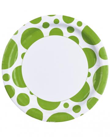 Kiwi Green Dots Paper Plates 8 Pc.