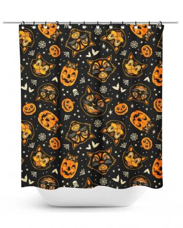 Classic Halloween Shower Curtain