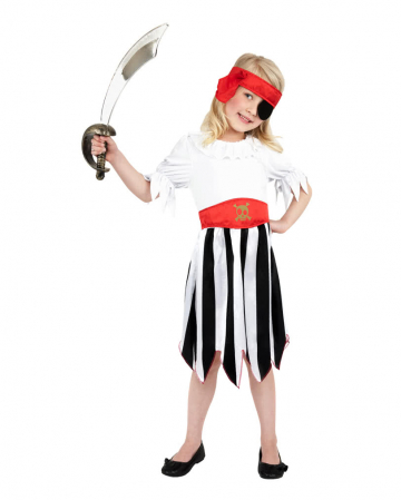 Süße Piratin Kinderkostüm