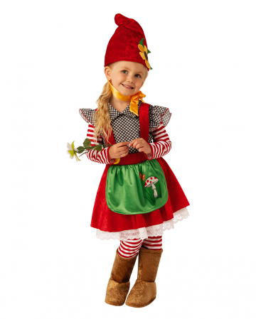 Little Garden Gnome Girl Child Costume