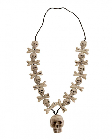 Bone Necklace With Skull
