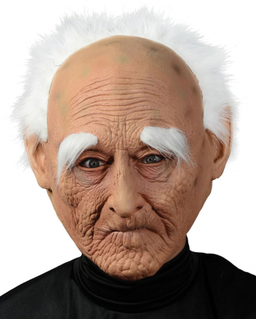Gnarled Grandpa Mask With Hair