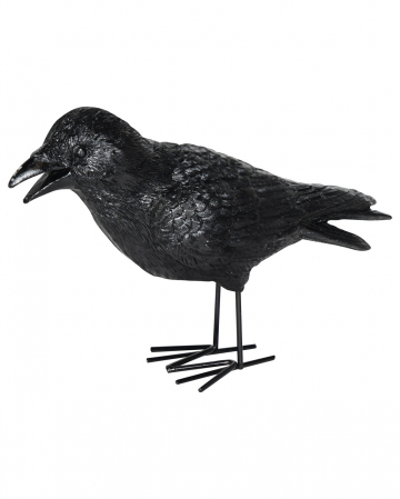 Crow Made Of Cast Stone 20 Cm